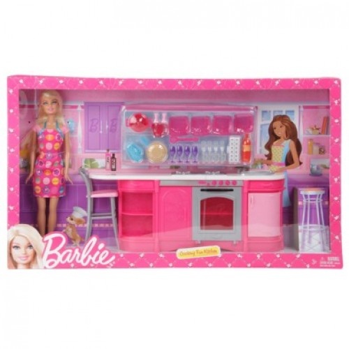 Barbie Cooking Fun Kitchen Doll